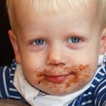 Tandläkartid för pojke med chokladmun