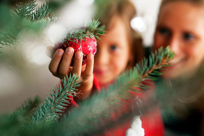 julgran och familj